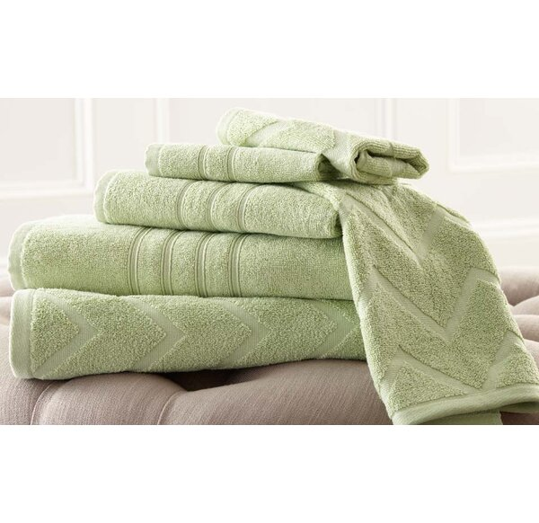 6 Piece 100% Cotton Towel Set by The Twillery Co.